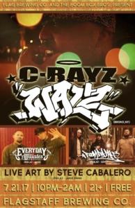 C-Rayz Walz, Everyday Affiliates, Boom Box Bros. @ Flagstaff Brewing Company | Flagstaff | Arizona | United States